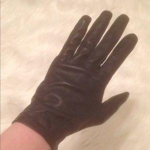 French Silk Navy Blue Gloves